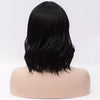Natural black medium curly side fringe wig by Smart Wigs Brisbane QLD