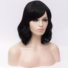 Natural black medium curly side fringe wig by Smart Wigs Adelaide SA