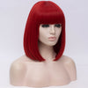 Natural hot red full fringe medium bob wig by Smart Wigs Gold Coast QLD