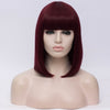 Burgundy full fringe medium bob wig by Smart Wigs Sydney NSW