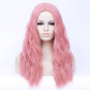 Light pink long curly fashion wig without fringe - Smart Wigs Adelaide