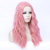 Light pink long curly fashion wig without fringe - Smart Wigs Adelaide SA