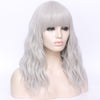 Natural silver full fringe long curly costume wig - Smart Wigs Perth WA