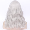Natural silver full fringe long curly fashion wig - Smart Wigs Perth