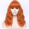 Natural orange full fringe long curly costume wig - Smart Wigs Sydney