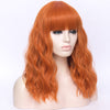 Natural orange full fringe long curly costume wig - Smart Wigs Sydney NSW