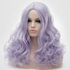 Natural looking mixture purple long curly wig without fringe at Smart Wigs Perth WA Australia