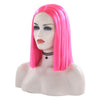 Hot Pink Short Straight Bob Lace Front Wig - Smart Wigs Brisbane QLD