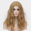 Wheat blonde long curly wig without fringe at Smart Wigs Adelaide SA