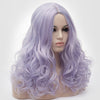 Natural looking mixture purple long curly wig without fringe at Smart Wigs Perth WA