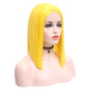 Bright Yellow Short Straight Bob Lace Front Wig - Smart Wigs Melbourne