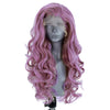 Natural Warm Pink Long Curly Lace Front Wig - Smart Wigs Melbourne VIC