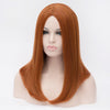 Natural orange medium length wig without fringe