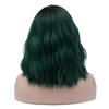 Natural green with dark roots medium wavy costume wig at Smart Wigs