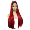 stralia offers Dark Root Natural Red Silk Straight Lace Front Wig