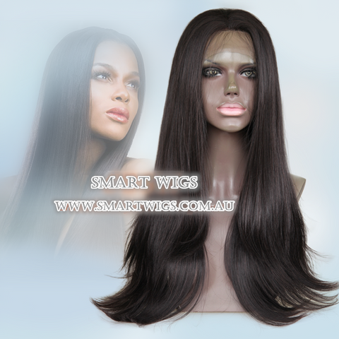 Long Glueless Lace Front Wig Dark Brown by Smart Wigs