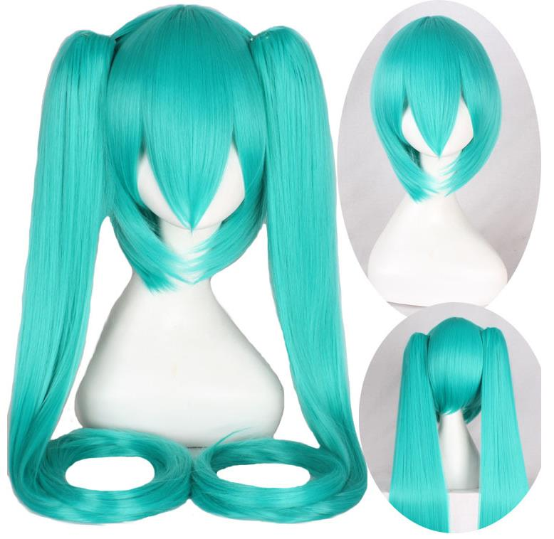 The super long green pigtail wig only at Smart Wigs Sydney NSW
