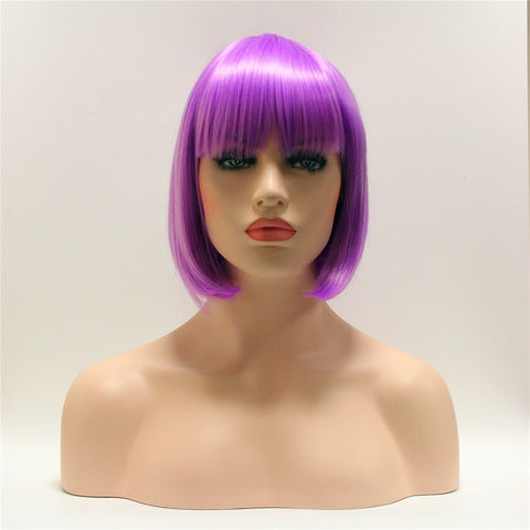 Light purple short bob by Smart Wigs Melbourne