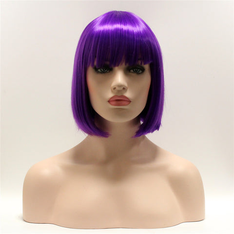 Dark purple short bob by Smart Wigs Melbourne