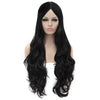 Black middle part long curly wigs best price at Smart Wigs Adelaide SA