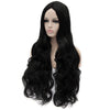 Black middle part long curly wigs best quality at Smart Wigs Adelaide SA