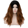 Light brown with dark roots long wavy wig - Smart Wigs Adelaide SA