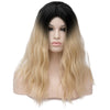 Natural blonde with dark roots long wavy wig - Smart Wigs Brisbane QLD