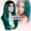 Lace Front Wig with 2 Tone Colour From Black to Green