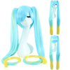 Super long blue yellow pigtail cosplay wig at Smart Wigs Brisbane QLD