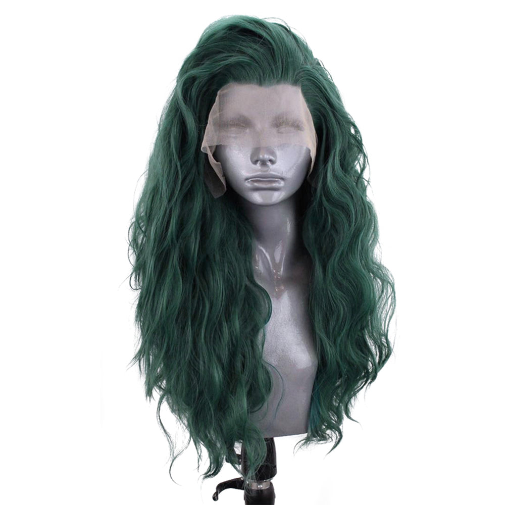 Natural Dark Green Long Curly Lace Front Wig- Smart Wigs Sydney NSW