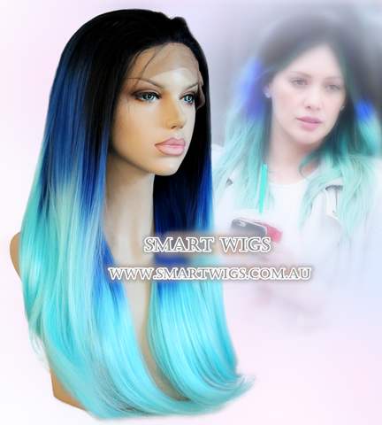 Long Straight Lace Front Wig with 3 Tone Colour by Smart Wigs