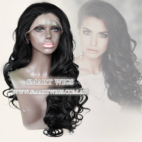 Natural Curly Black Lace Wig by Smart Wigs australia