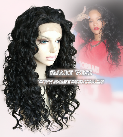 Tight Curly Black Lace Front Wig by Smart Wigs