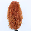 Natural Red Orange Long Curly Lace Front Wig Adelaide SA