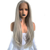 Silver Grey Natural Straight Lace Front Wig - Smart Wigs Melbourne VIC