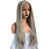 Silver Grey Natural Straight Lace Front Wig - Smart Wigs VIC Australia