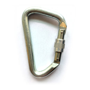 FADERS Steel Large Opening Screw Locking Carabiner
