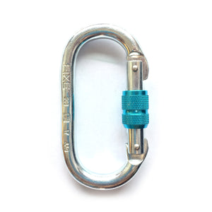 FIXE Steel Oval Safety Twin Screw Locking Carabiner