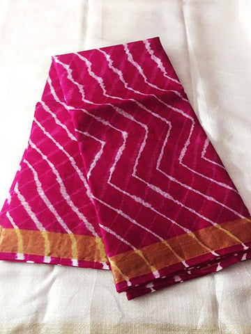 Cotton Lehriya Saree