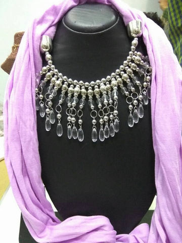 Light Purple Scarf Necklace
