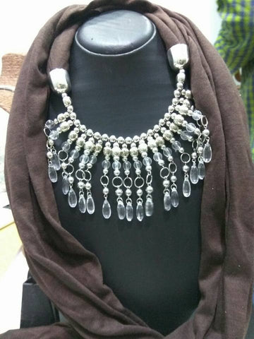 Brown Scarf Necklace