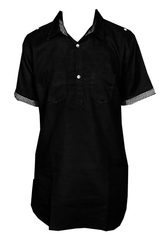 Black Punjabi Men's Kurta