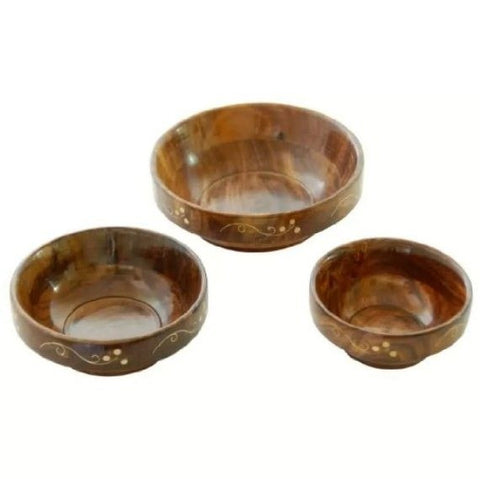 Desi Karigar Wooden Bowl Set