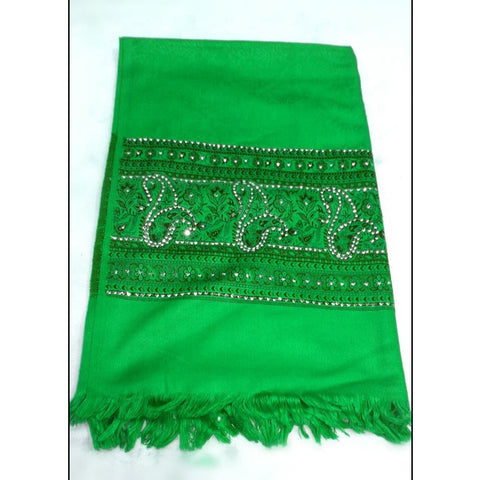 Green colour shawl