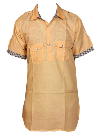 Peach Punjabi Men's Kurta