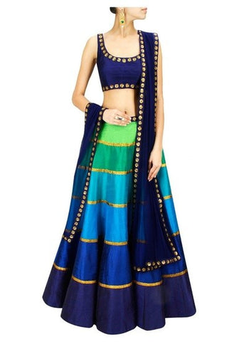 Ethnic Multi Color Indian Lehenga