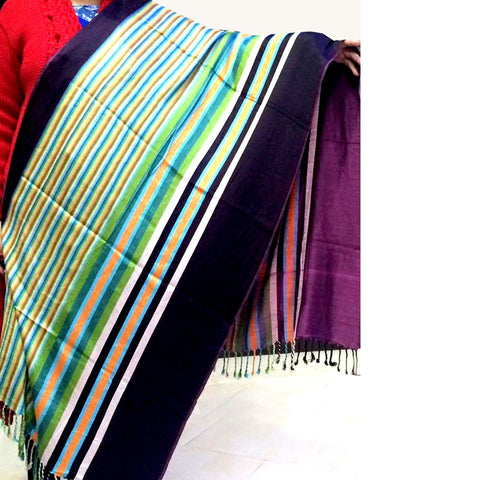 Multi colour shawls