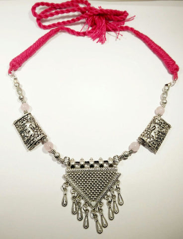 Silver oxidized necklace - Baazakrt