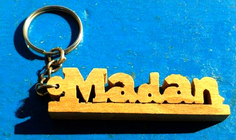 Wooden Handcrafted Key chain