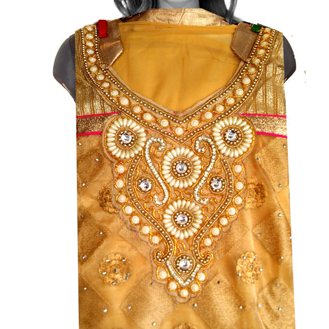 Bead and Stone Work Punjabi Suit un-stitched
